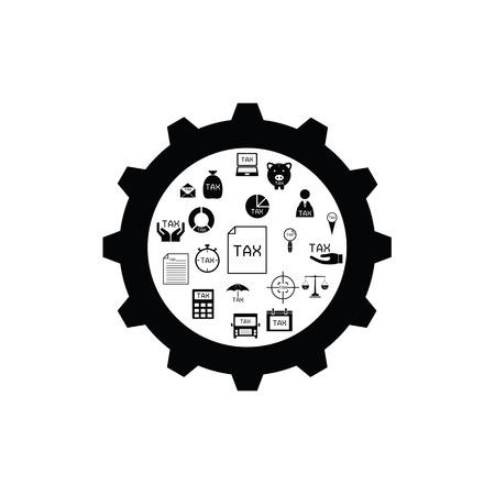 gear tax concept Ilustração