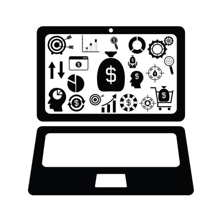 computer finance concept Illustration