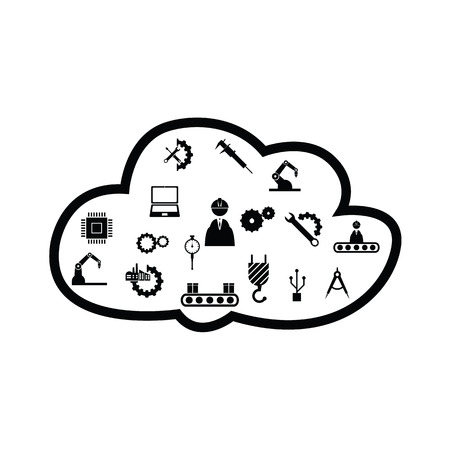 cloud  engineering concept Vectores