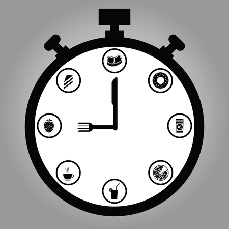 Infographic watch and flat icons idea