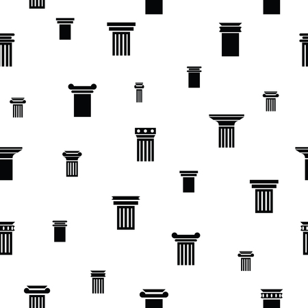 column seamless pattern background icon. Illustration