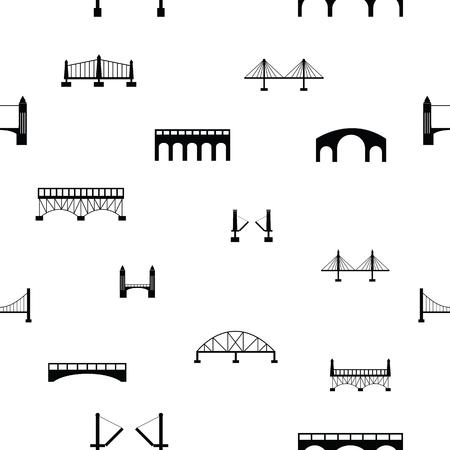 bridge seamless pattern background icon.