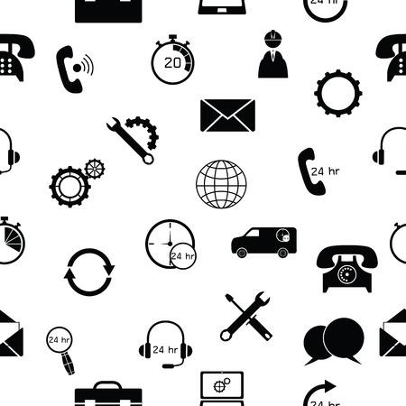 customer service seamless pattern background icon. Illustration