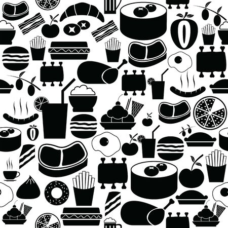 lunch seamless pattern background icon.