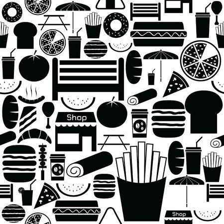 picnic seamless pattern background icon. Illustration