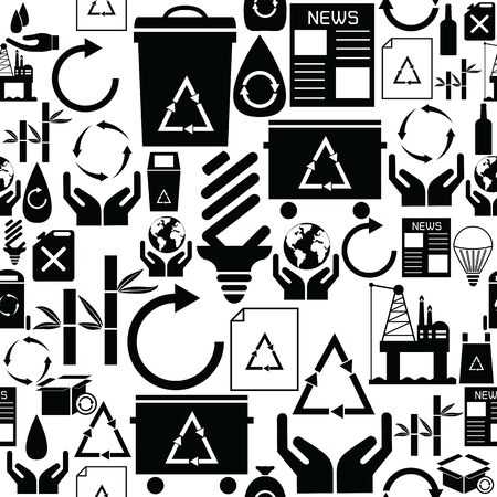 recycle seamless pattern background icon.