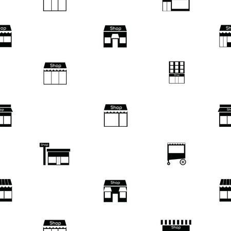 shop seamless pattern background icon.