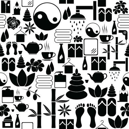 spa seamless pattern background icon.