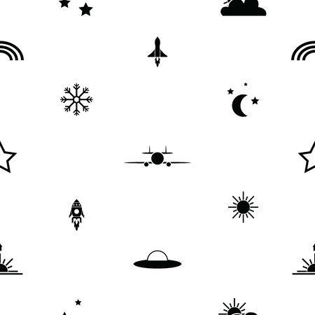 sky seamless pattern background icon.