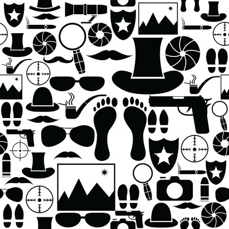 spy seamless pattern background icon.