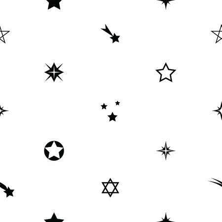 star seamless pattern background icon.