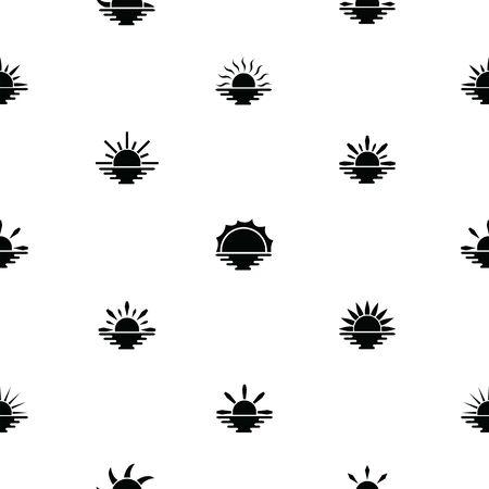 sunset seamless pattern background icon.