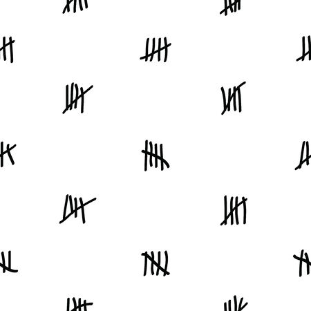 tally marks seamless pattern background icon. Illusztráció