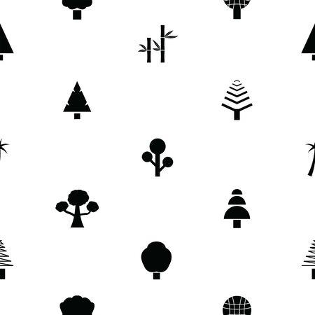tree seamless pattern background icon.