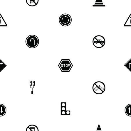 traffic seamless pattern background icon. Çizim