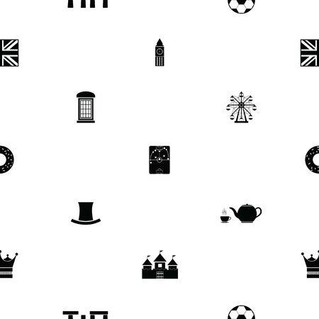 uk seamless pattern background icon. 向量圖像