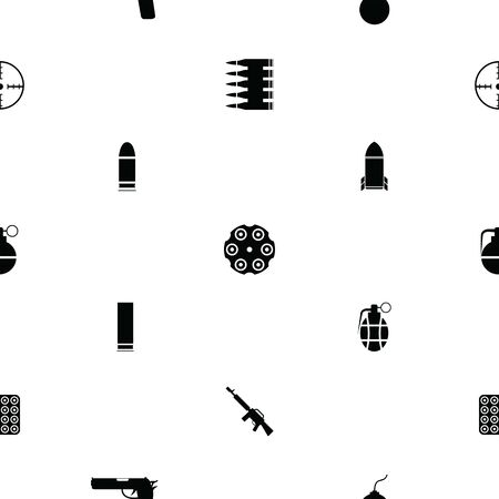 weapons seamless pattern background icon. 向量圖像