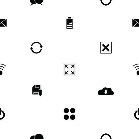 web seamless pattern background icon. 向量圖像