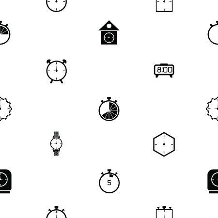 watch seamless pattern background icon.