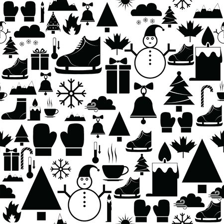 winter seamless pattern background icon.