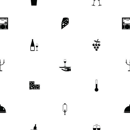 wine seamless pattern background icon.