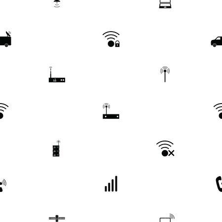 wireless seamless pattern background icon. 向量圖像