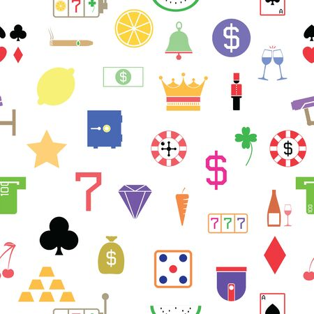 casino seamless pattern background icon.