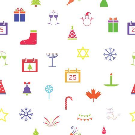 christmas seamless pattern background icon.