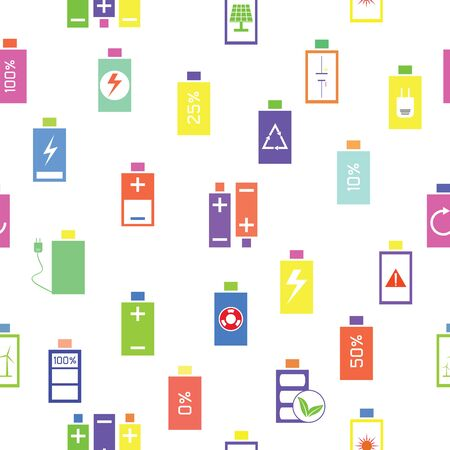 charging seamless pattern background icon. 向量圖像