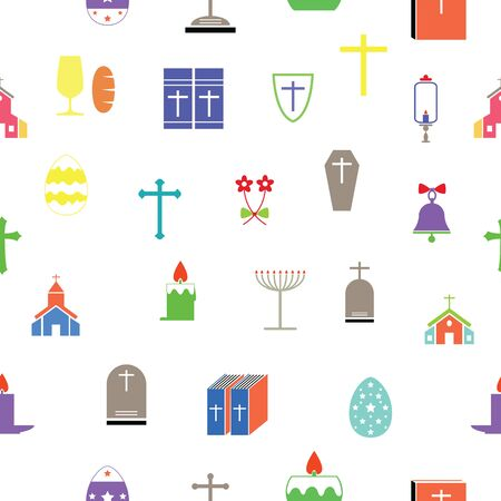catholic seamless pattern background icon.