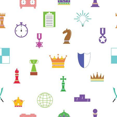 chess seamless pattern background icon.