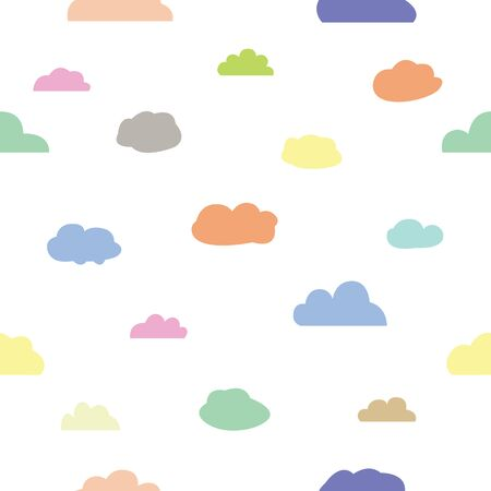 cloud seamless pattern background icon. Çizim