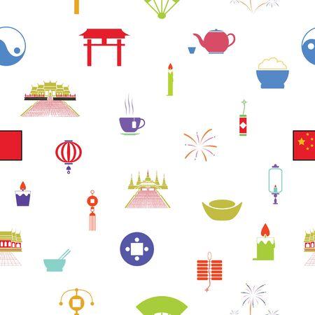 chinese seamless pattern background icon.
