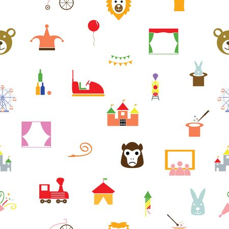 circus seamless pattern background icon.