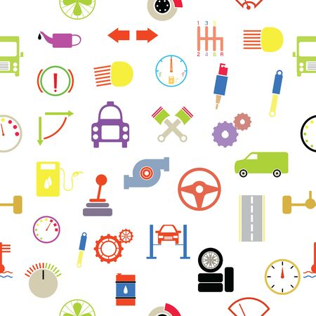 car seamless pattern background icon.
