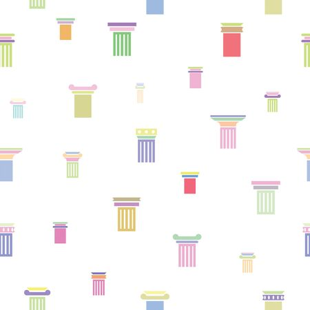 column seamless pattern background icon. 向量圖像