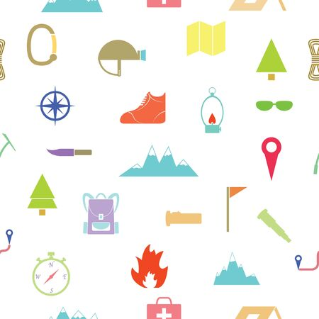 climbing seamless pattern background icon. Ilustracja
