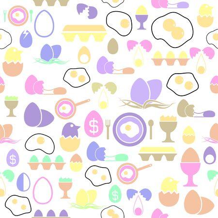 egg seamless pattern background icon.
