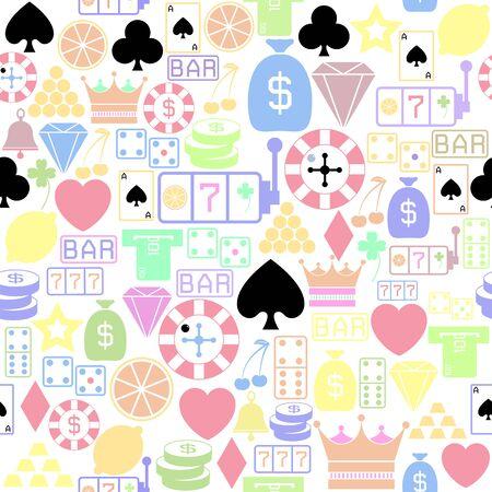 gamble seamless pattern background icon. Stock Illustratie