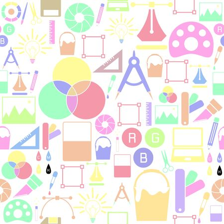 graphic design seamless pattern background icon. Foto de archivo - 134599530