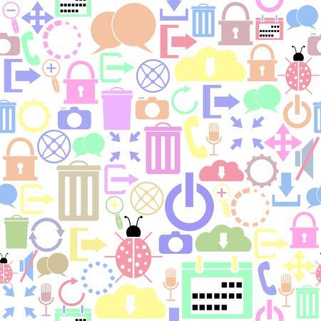 interface food seamless pattern background icon. Foto de archivo - 134599534