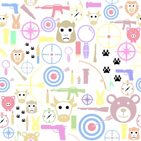 hunting seamless pattern background icon.