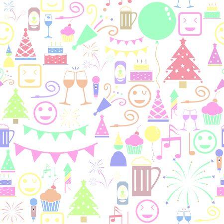happy seamless pattern background icon. Ilustração
