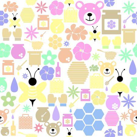 honey seamless pattern background icon.