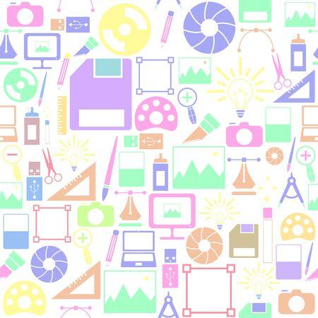 graphic design seamless pattern background icon.
