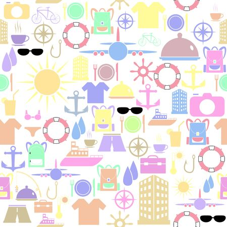 holiday seamless pattern background icon.