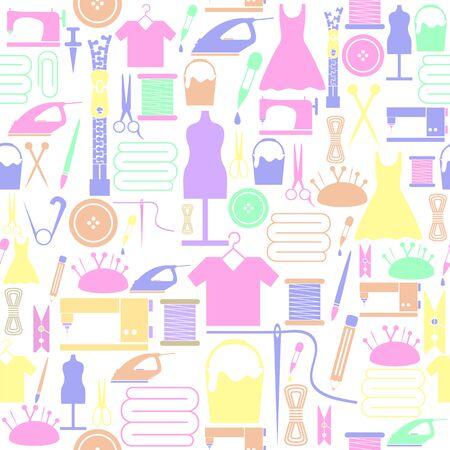 handmade seamless pattern background icon. Ilustração