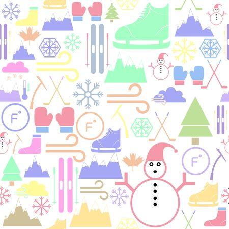 ice skate seamless pattern background icon.