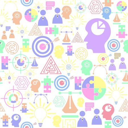 idea food seamless pattern background icon. Ilustração