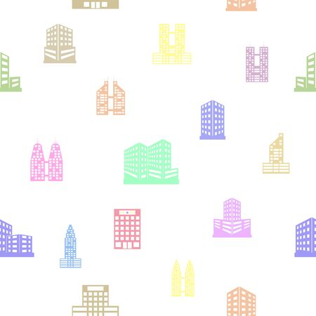 hotel seamless pattern background icon.